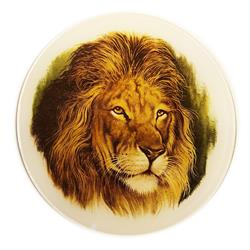 Lion Glass Medallion