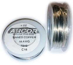 18 Gauge Tinned Copper Wire, 50 ft