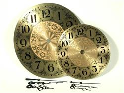 "Clarity 7"" Brass Clock Face and Hands"