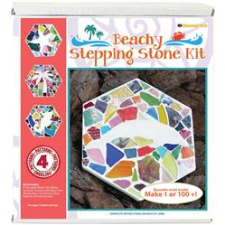 Beachy Mosaic Stepping Stone Kit